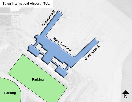 Tulsa TUL Terminal Map