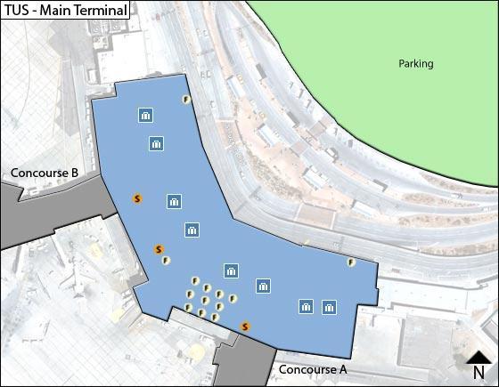 Tucson TUS Terminal Map