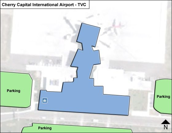 Traverse City Cherry Capital TVC Terminal Map