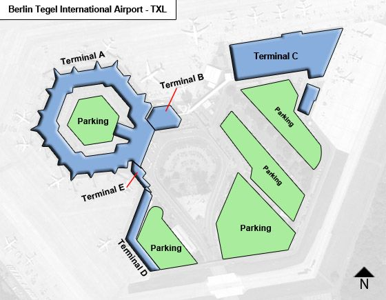 Berlin Tegel TXL Terminal Map