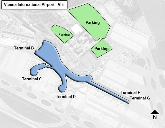 Schwechat, Upper Austria Airport Overview Map