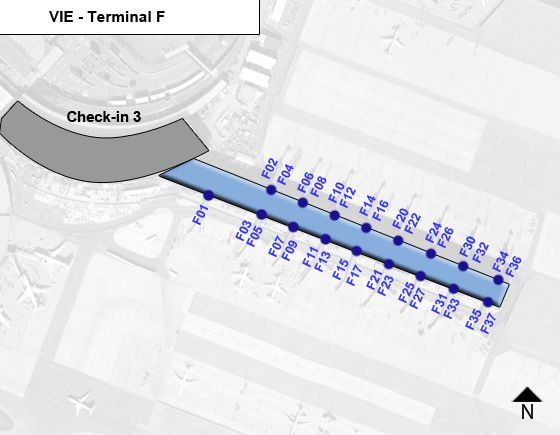 Schwechat, Upper Austria Airport Terminal F Map