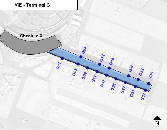 Vienna International VIE Terminal Map