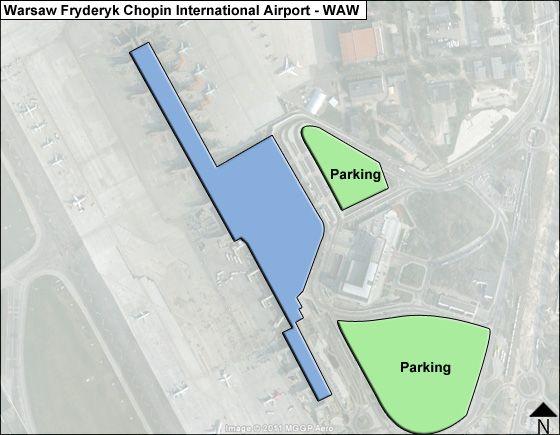 Warsaw Fryderyk Chopin WAW Terminal Map