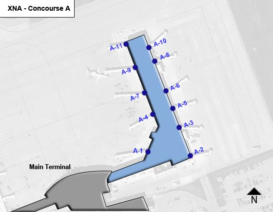 Bentonville Airport Concourse A Map