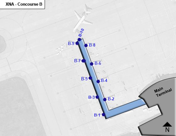 Bentonville Airport Concourse B Map