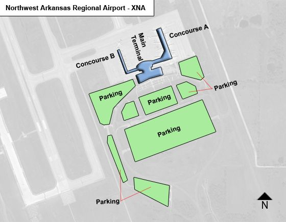 Northwest Arkansas Regional XNA Terminal Map