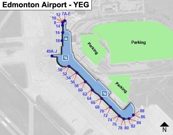 edmonton international airport arrivals map Edmonton Yeg Airport Terminal Map edmonton international airport arrivals map