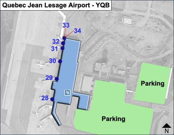 Quebec Jean Lesage YQB Airport Terminal Map