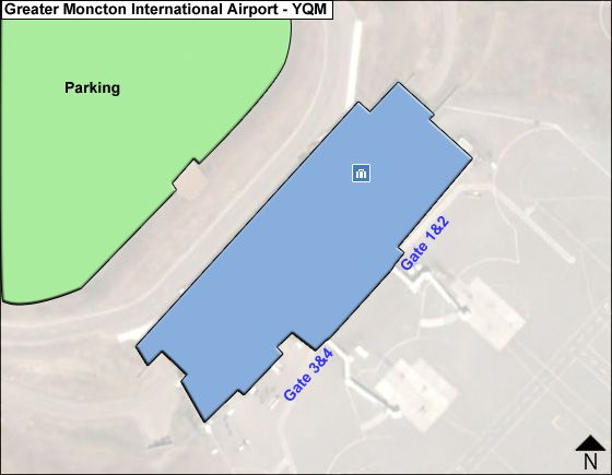 Greater Moncton YQM Terminal Map