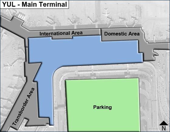 Dorval, Quebec Airport Main Terminal Map