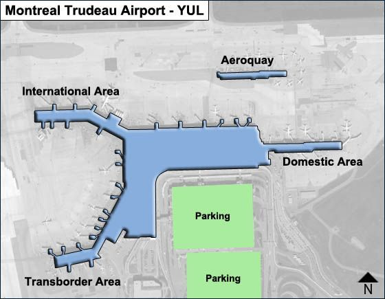 Montreal Airport Map Montreal Trudeau YUL Airport Terminal Map
