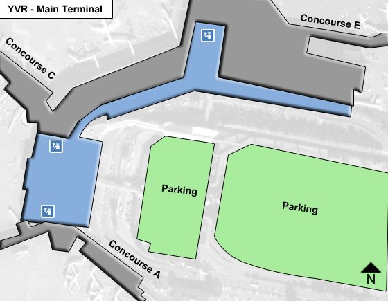 Richmond Airport Main Terminal Map