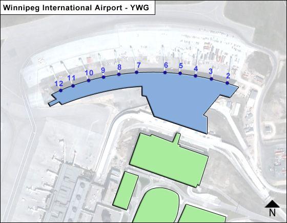 Winnipeg YWG Terminal Map