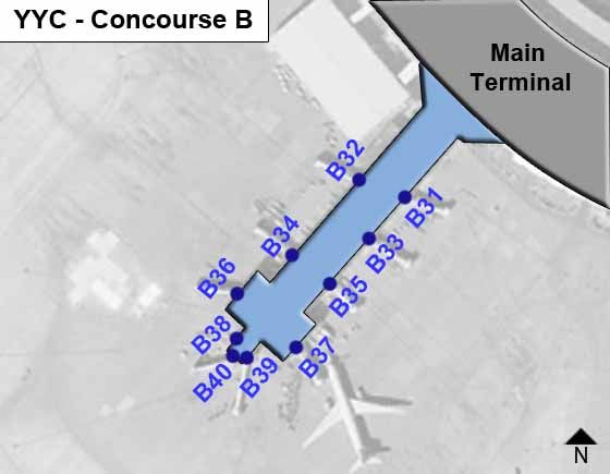 Calgary Airport Concourse B Map