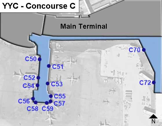 Calgary Airport Concourse C Map