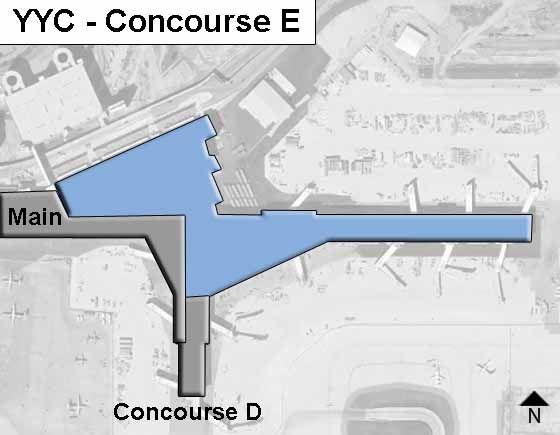 Calgary Airport Concourse E Map