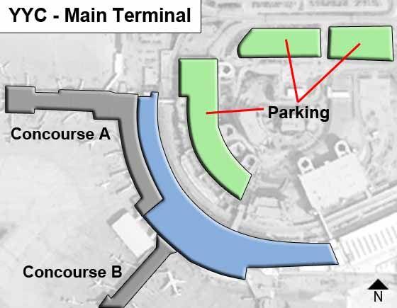 Calgary Airport Main Terminal Map