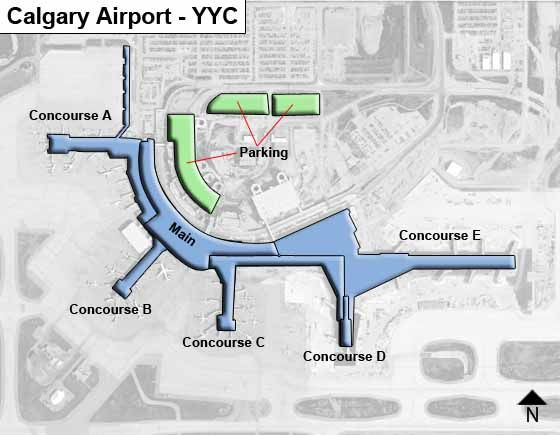 Calgary Airport YYC OverviewMap