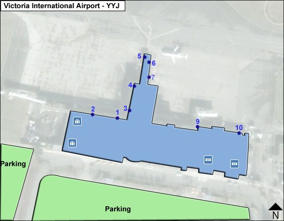 Sidney, BC Airport Overview Map