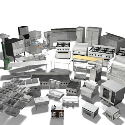 Restaurant Kitchen 3d Model 10 food service parts & food service equipment maintenance tips