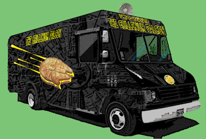 Fayetteville, AR: Hammontree's 'Grillenium Falcon' Grilled Cheese Food Truck