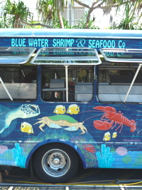 Honolulu: New Shrimp Truck in Town – Bluewater Blue Water Shrimp & Seafood, Ward Center