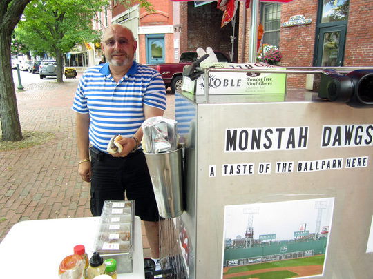 Amesbury, MA: LaBella Selling Monstah Dawgs in Market Square