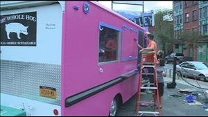 Buffalo, NY: Whole Hog Food Truck Turns Pink [video]