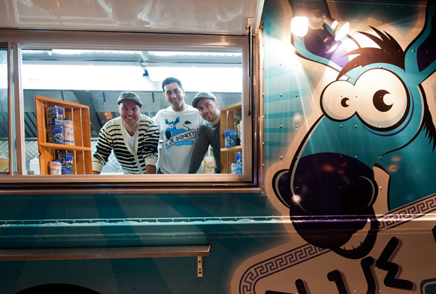 Blue Donkey Streatery, Mississauga's New Electric Blue Greek Food Truck