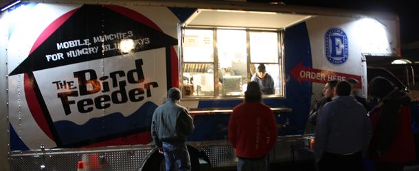 Elizabethtown, PA: Blue Jay Gets Delicious Scoop Inside Late-Night Bird Feeder Truck