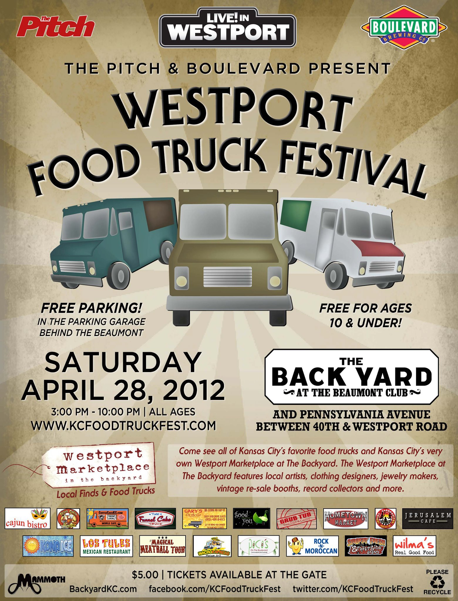Kansas City: Westport FOOD TRUCK Festival – April 28th