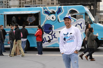 Mississauga, ONT: Local Food Trucks Serving CNE Crowd at Rally