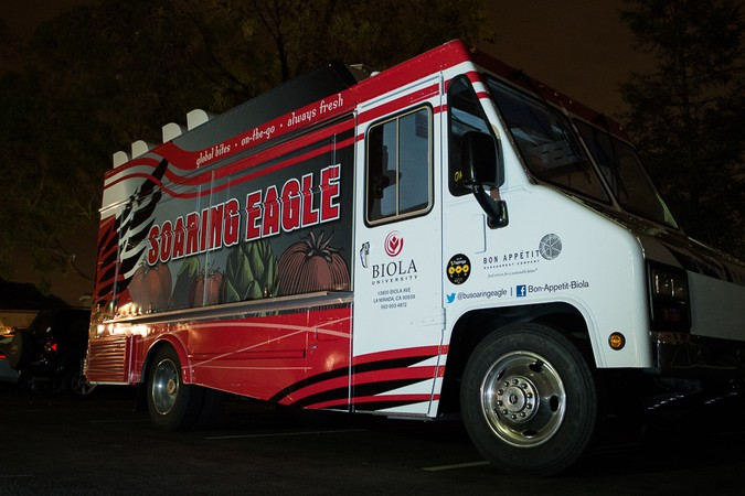 "La Mirada, CA: Biola's ""Soaring Eagle"" Food Trucks Previews Menu for Students and Faculty"