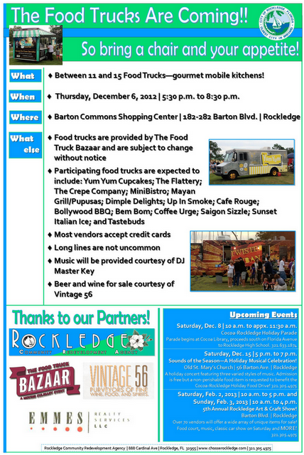 Rockledge, FL: The Food Truck Bazaar Travels to Rockledge