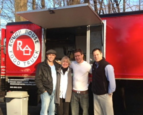 Rough House Food Truck recently gave out 300 hot dogs to hungry people free of charge in Middletown and Old Saybrook. Credit Cassandra Day
