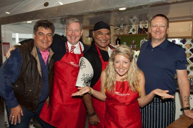 Melbourne, AUS: Jamie Oliver's Mobile Kitchen Launch