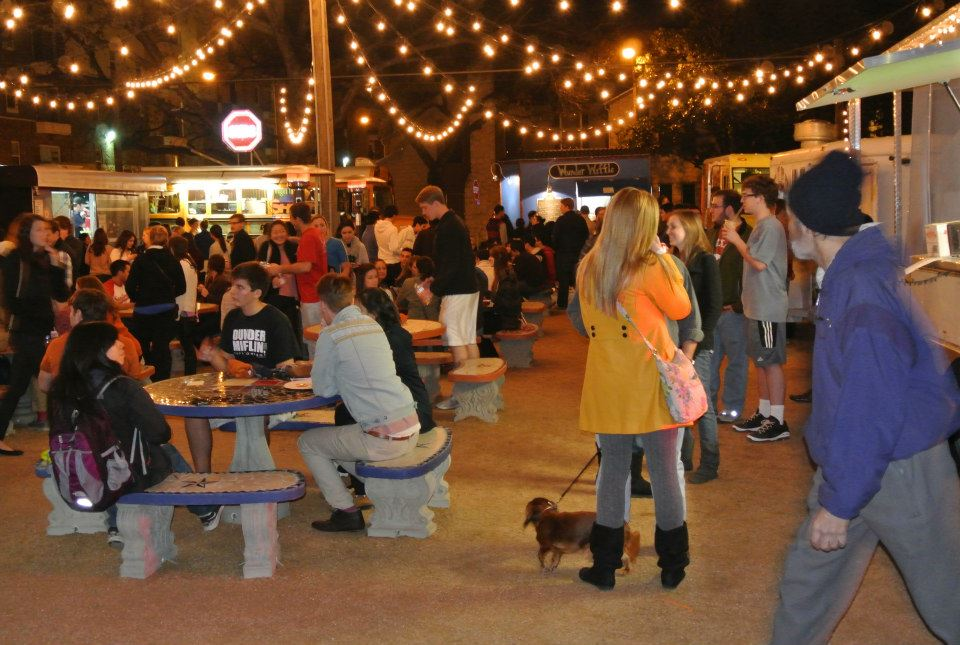 Austin, TX: Rancho Rio Food Truck Park; Lustre Pearl's Not Douchey