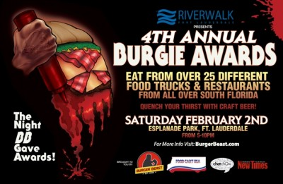 Ft. Lauderdale, FL: 4th Annual Burgies at Esplanade Park in Ft. Lauderdale on Saturday February 2nd, 2013