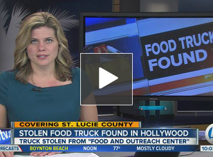 Fort Piece, FL: Stolen Food Bank truck from Fort Pierce Found in Hollywood — Without Food