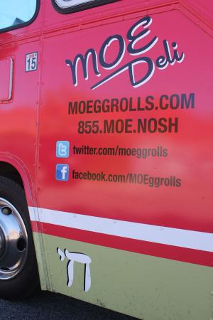 Michael Israel's Los Angeles food truck, which serves Montreal-style egg rolls. George Medovy