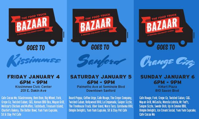 Kissimmee, FL: The Food Truck Bazaar – Kissimmee, Sanford, Orange City