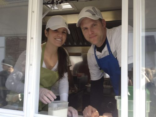 """Elyse and Jacob Harver debuted Bro's Fish Tacos at the first Whole Foods Market's """"Food Truck Rodeo,"""" which is scheduled to take place monthly in the Hilltop market's parking lot. (Cindy Butler Focke 