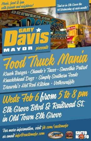 Elk Grove, CA: Food Trucks Gathering at Elk Grove Blvd. & Railroad Today