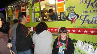 FOOD AND FLICKS: The movie-going experience was enhanced by the presence of food trucks at All Angels Episcopal Church's Movie Night on Jan. 25. GAZETTE PHOTO/RHONDA FERRARI CALVERT