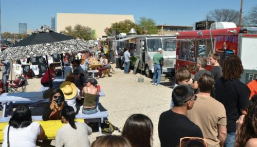 Peter McCrady Food truck industry at crossroads Customers line up at the South Congress Food Trailer Park during the South by Southwest Music and Media Conference.