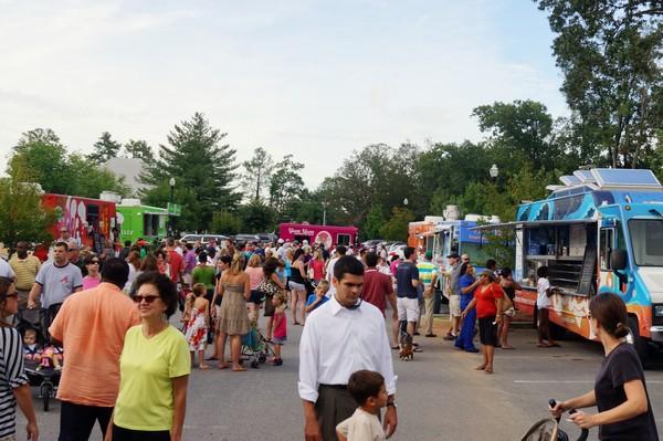 Smyrna's Food Truck Tuesday in August 2012. Credit Hans Beltran