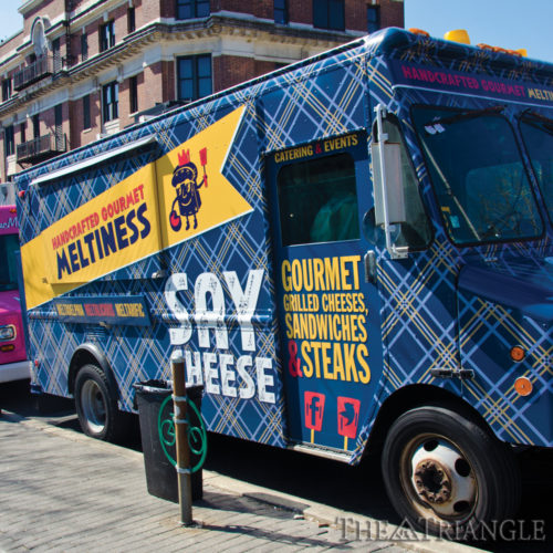 Magda Papaioannou-Drexel students craving a grilled cheese sandwich can pay a visit to Say Cheese, a food truck located at 33rd and Arch streets Customers can enjoy sandwiches such as The Franc, consisting of their custom cheese blend and pork.