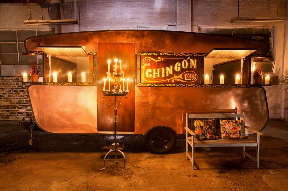 Going mobile: Will and Mick Balleau's copper-coloured Chingon taco van. Photo: Luis Enrique Ascui
