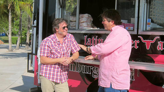 Travel Channel George Motz interviews Jim Heins for Burger Land.